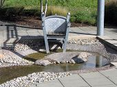 Outdoor foot bath chair
