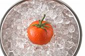 Red Tomato On Ice