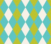 Seamless Abstract Background With Rhombuses. Infinity Geometric Pattern. Vector Illustration. Seamle poster