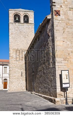 Basilica church of St. Basilio. Troia. Puglia. Italy.