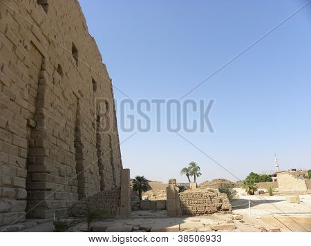 Big Karnak Temple Wall Egypt