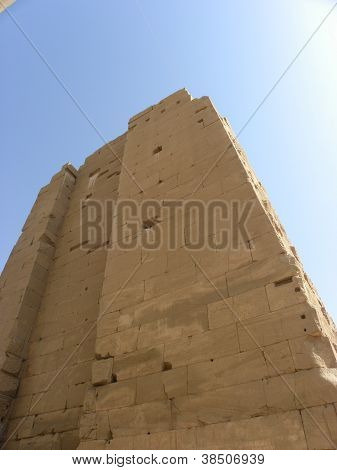 Egypt tall temple wall