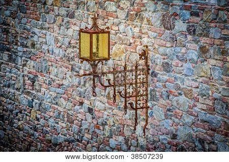 Tower and rust iron light