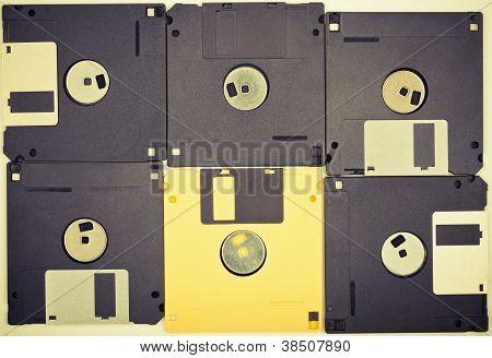Vintage Diskettes Background
