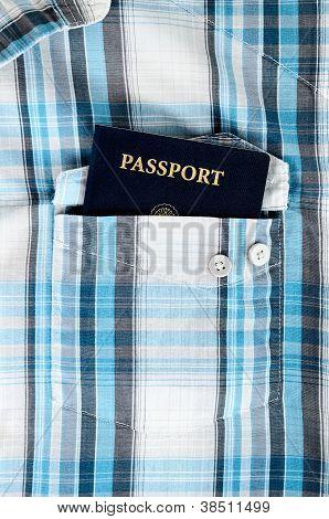 Passport In Plaid Shirt