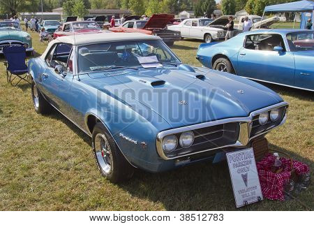 1967 Blue Pontiac Firebird