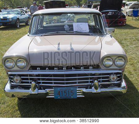 1959 Pink Rambler Front View