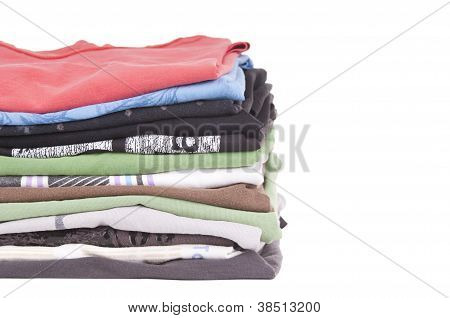 Tshirt Stack Isolated