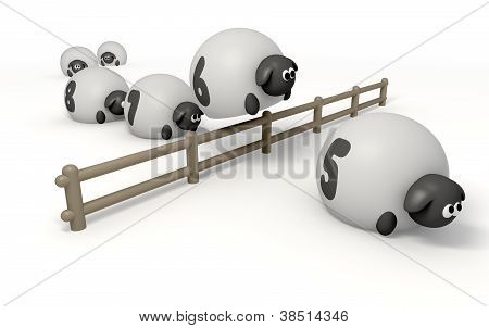 Counnting Sheep Isolated