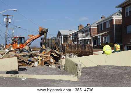 Hurricane Sandy desrtruction