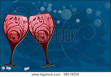 Wine glasses to toast