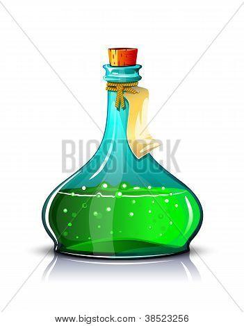 Bottle of green elixir