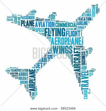 Aeroplane and travel concept