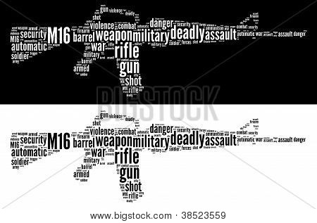 M16 rifle graphics