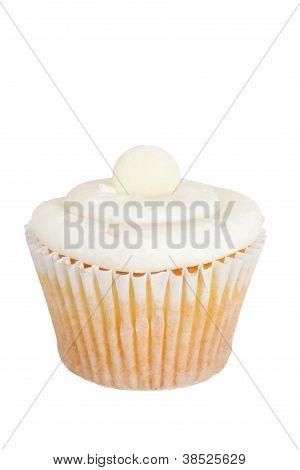 Isolated white cupcake