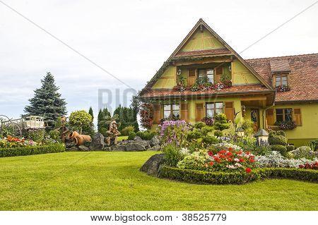 Ottrott (Alsacia) - casa y jardín