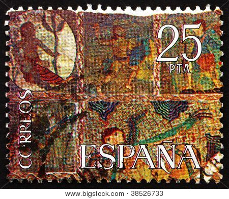 Postage stamp Spain 1980 Part of The Creation, Tapestry