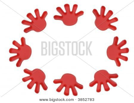 Plastic Toy Hands