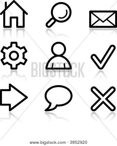Basic Web Black Contour Icons