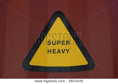 Sign Of Super Heavy Load In Triangle
