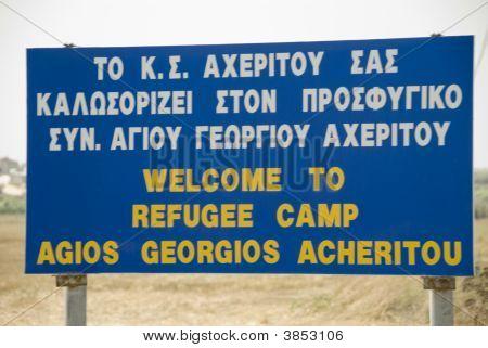 Refugee Camp Sign