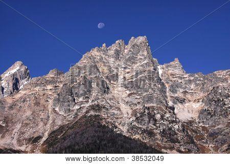 Peaks of GrandTeton mountain range