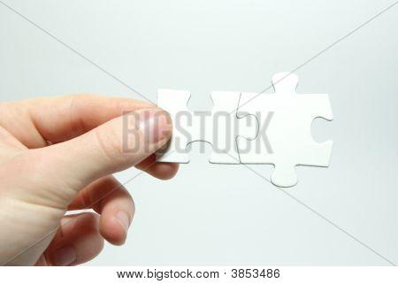 Quebra-cabeça na mão