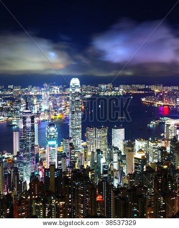 Noite de Hong Kong City