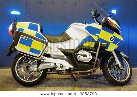 British Police Motorcycle