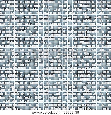 weiße Regale Matrix (illustrierte Konzept)