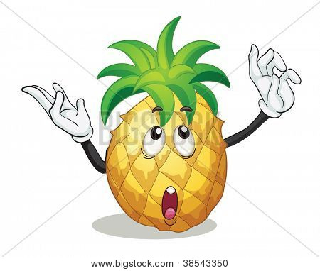 illustration of pineapple on a white background