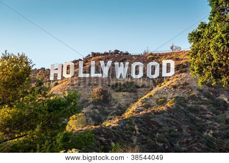 HOLLYWOOD CALIFORNIA - SEPTEMBER 24: The world famous landmark Hollywood Sign on September 24, 2012 in Los Angeles, California.