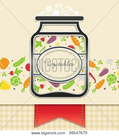 can with canned vegetables. food background vector illustration EPS10. Transparent objects and opacity masks used for shadows and lights drawing