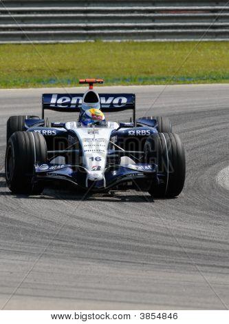 At&T Williams Fw29 Nico Rosberg German Germany F1 Sepang Malaysia 2007