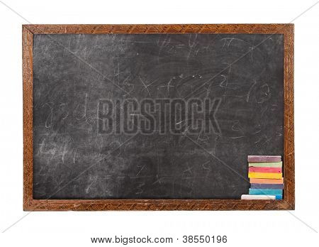 Blackboard and chalk