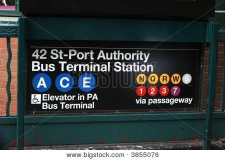 Subway To Port Authority Bus Terminal