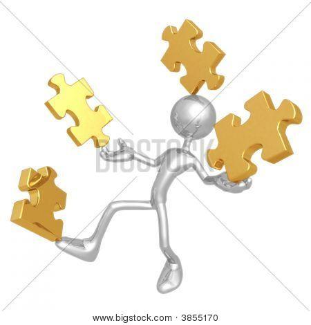 Balancing Puzzle Pieces