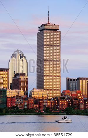 BOSTON, MA - JUN 20: Prudential Tower closeup on June 20, 2011 in Boston, Massachusetts. It stands as the 2nd-tallest in Boston and 26th-tallest in the United States and the famous city landmarks.