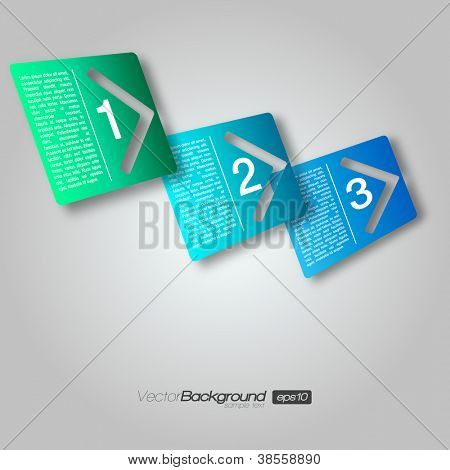 3D Next Step Arrow Boxes | EPS10 Vector Design