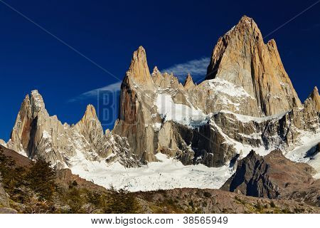 Monte Fitz Roy, na Patagônia, Argentina