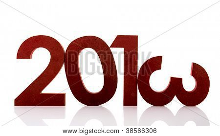 Year 2013 in ciphers isolated over white background