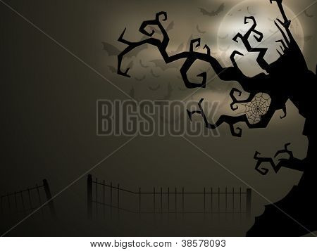 Scary Halloween night. EPS 10.