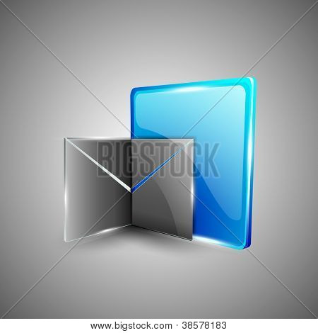 Glossy 3D web 2.0 message symbol icon set. EPS 10.