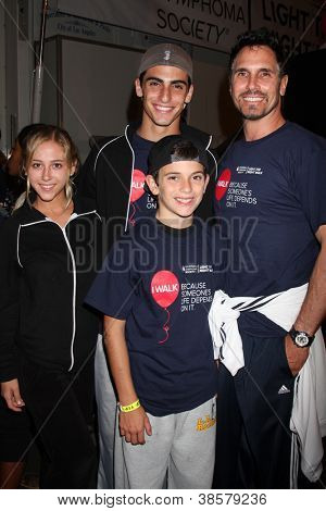 LOS ANGELES - OCT 6:  Son's Date, Don Diamont, sons attends the Light The Night Walk to benefit The Leukemia & Lymphoma Society at Sunset Gower Studios on October 6, 2012 in Los Angeles, CA