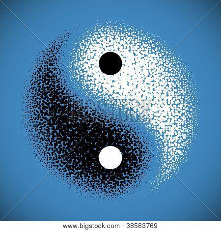 Yin Yang symbol. Vector.