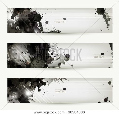 Abstract grunge artistic headers.