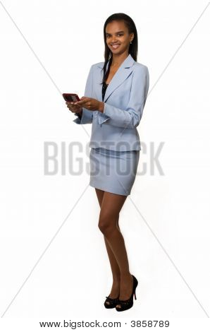 Business Woman On The Pager