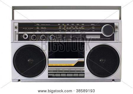 Retro radio from the 80s