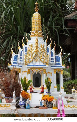 Mini Buddhist temple on the island of Koh Samui