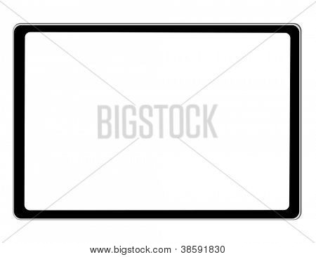 Black tablet Ipade on white background